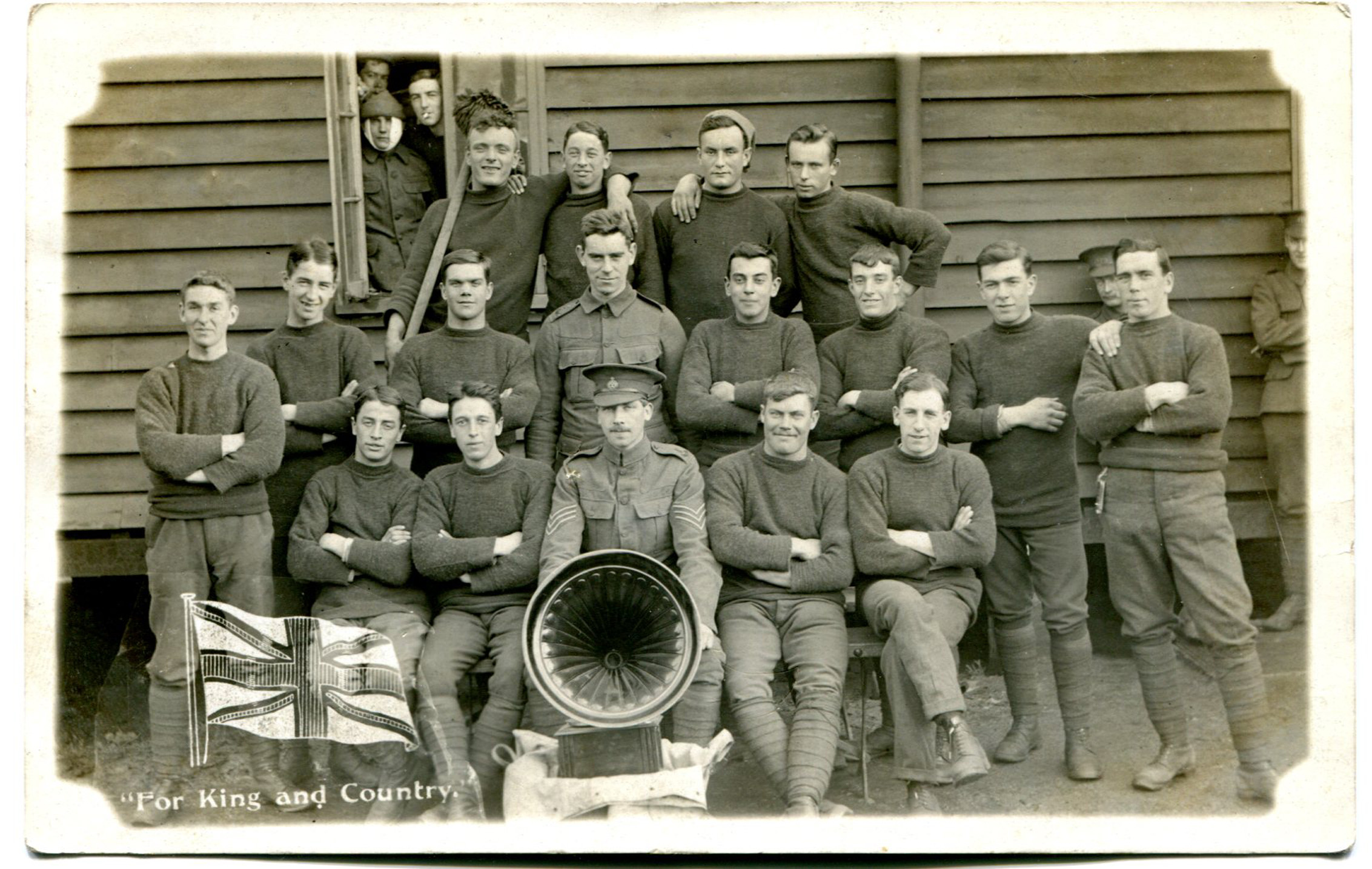 B Company at Sandown Barracks Dec 1914